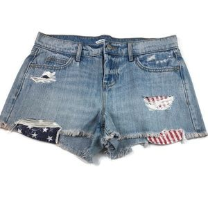 Old Navy boyfriend cut off distressed shorts sz. 2